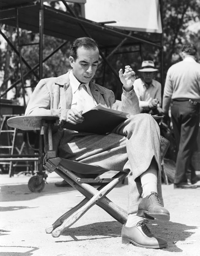 (1) Vincente Minnelli on the set of Yolanda and the Thief (1945)